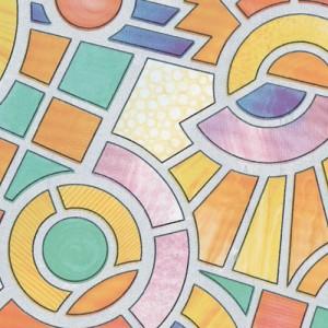 21-10727 / 90 см / Цветна мозайка